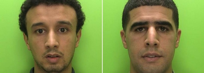 Now arrested gang members Karim Bousaboun and Mehamad Maddahi.  Drake called and he wants his face back.