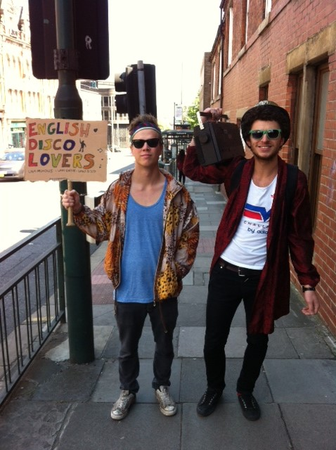 Rich Lombay (left) and Seb Jamous (right). Two 3rd year Goegraphy students and English Disco Lovers