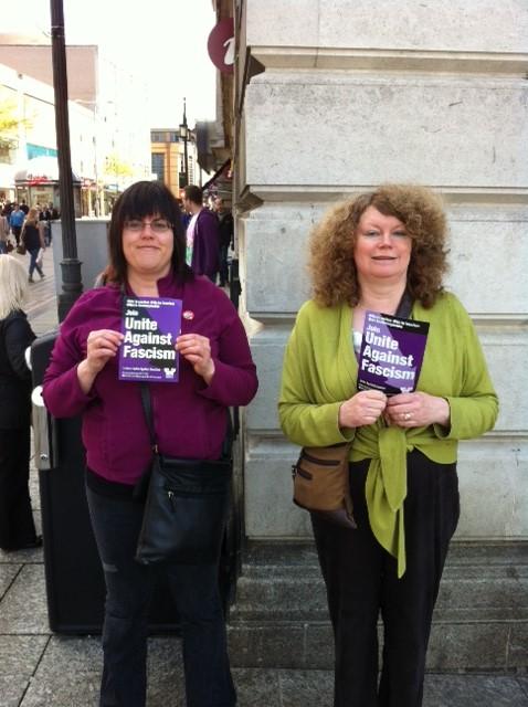 Julie Webster (left) and Mary of the Nottingham UAF