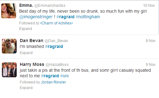 Part of the fun: The drinking culture on Rag Raids is undeniable