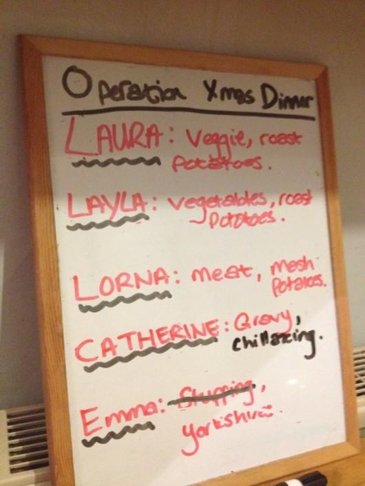 A very foody Christmas list.