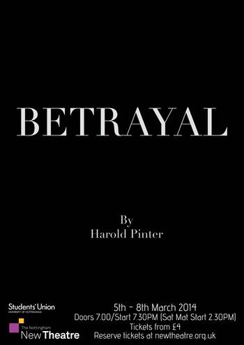 an analysis of harold pinters play betrayal