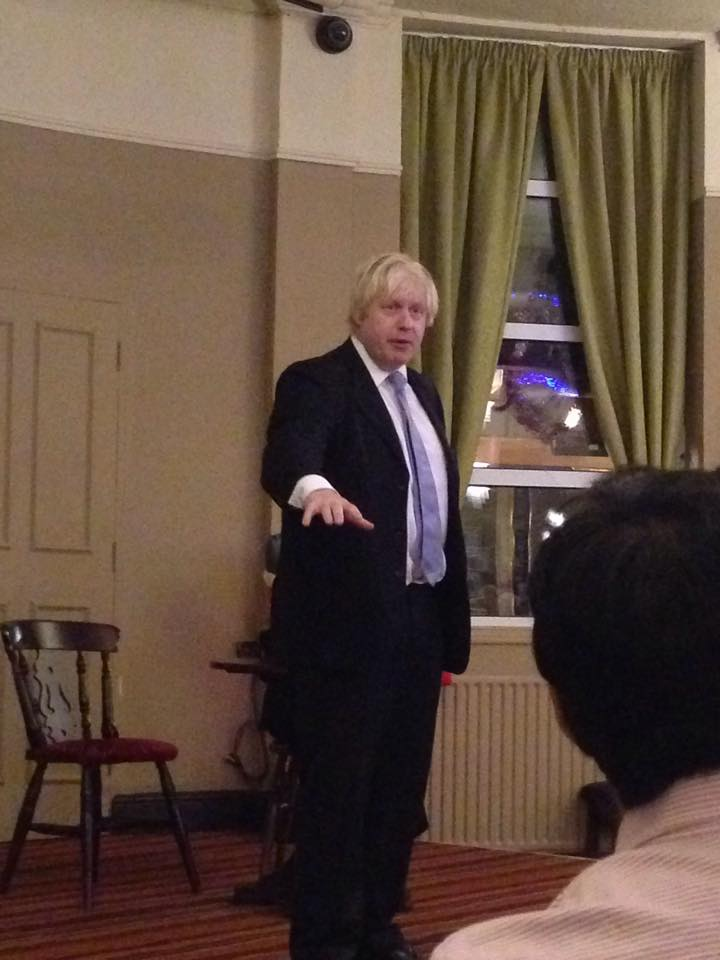 Boris Speaking to NUCA earlier in the day, photo By Alex Bright
