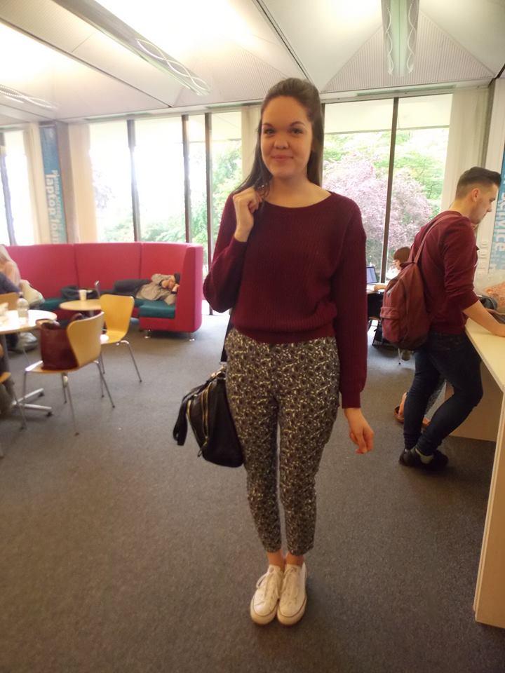 Jayde Richards, 3rd year English student