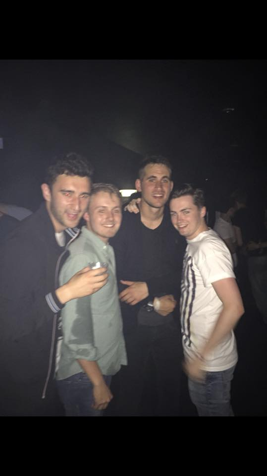 Kyle and friends with Alex Hales (second from right)