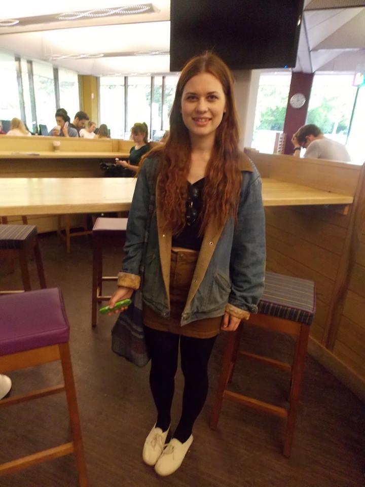 Emma Hancox, 1st year English student