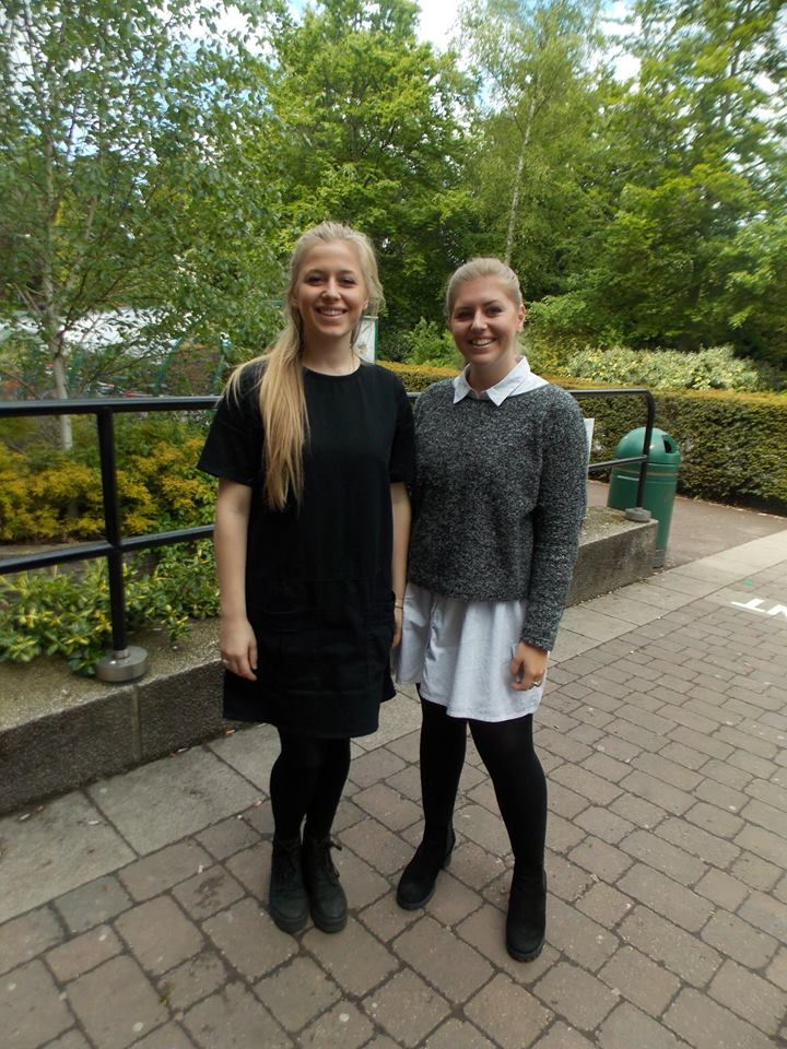 Emily Campin and Clare Sidwell, 2nd year History of Art students