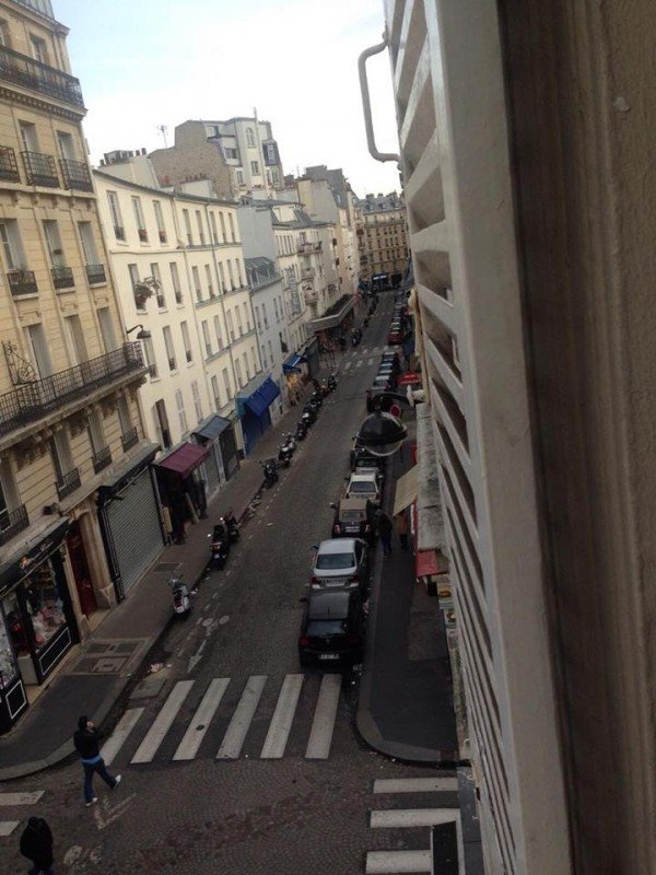 The usually busy Parisian streets are empty