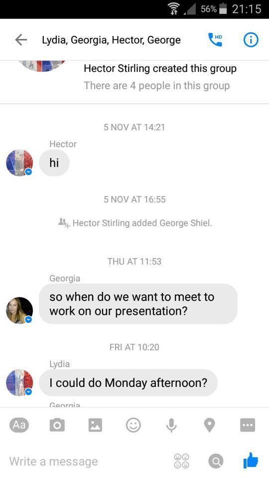 Durham group chat 2
