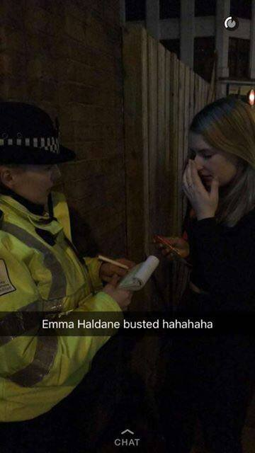 Second year Emma was fined a whopping £50