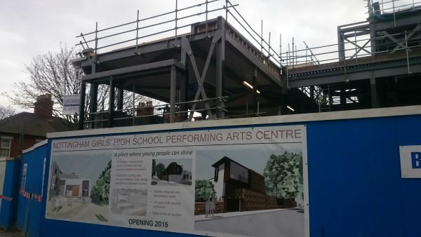 Construction near Senior School reception