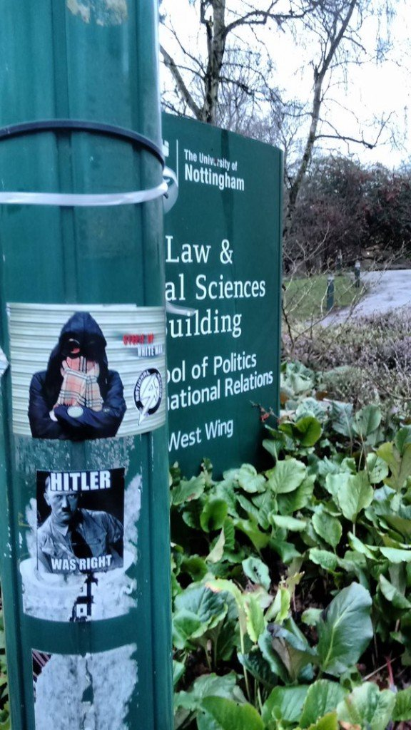 Neo-Nazi posters on campus