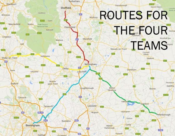 MAp for 50 mile chanlenge