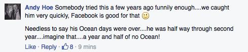 fake ocean