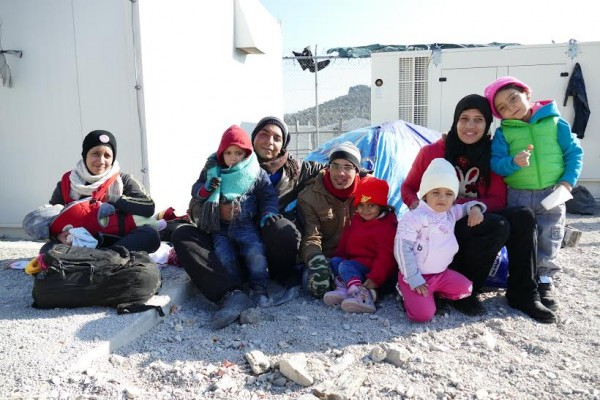 """""""A lovely Syrian family who I gave warm clothes and sweets for the kids!"""""""