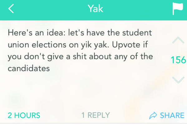 voting on yikyak