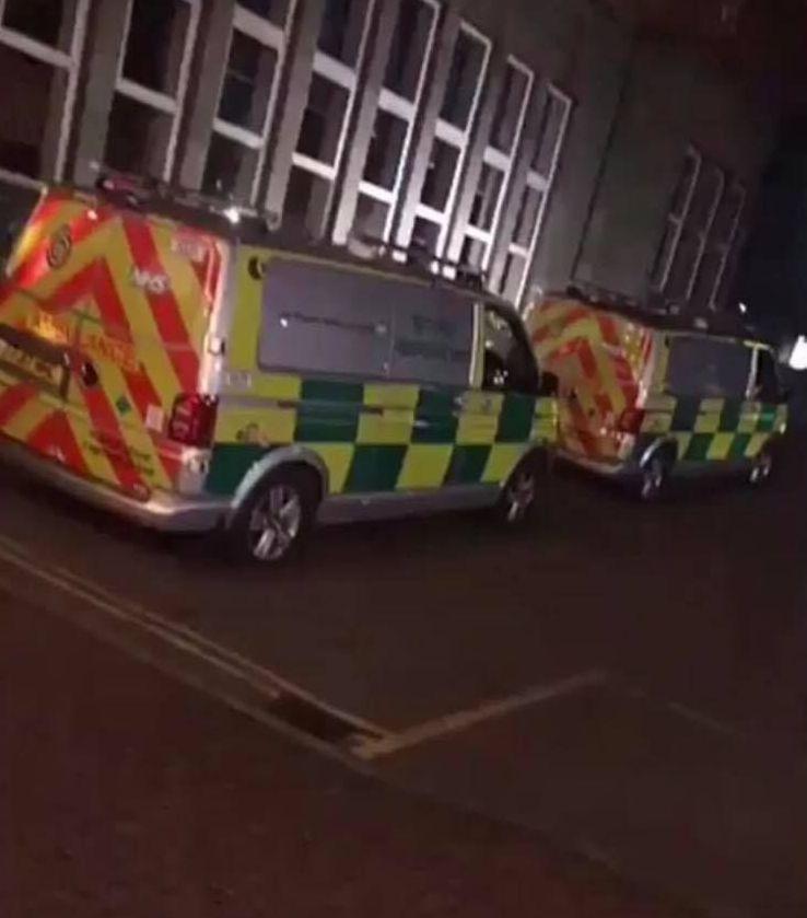 Image may contain: Bus, Transportation, Vehicle, Van, Ambulance