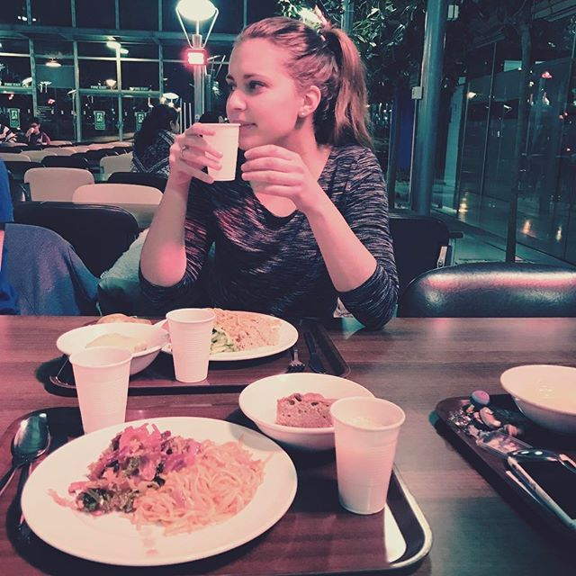 Image may contain: Female, Saucer, Cafeteria, Cup, Coffee Cup, Chair, Pottery, Cafe, Dish, Meal, Food, Food Court, Dating, Table, Furniture, Dining Table, Human, Person, Restaurant