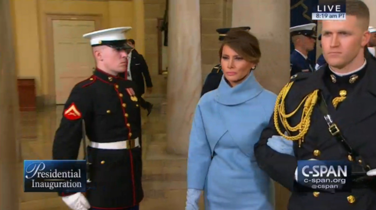 Photo of a steely-faced Melania Trump