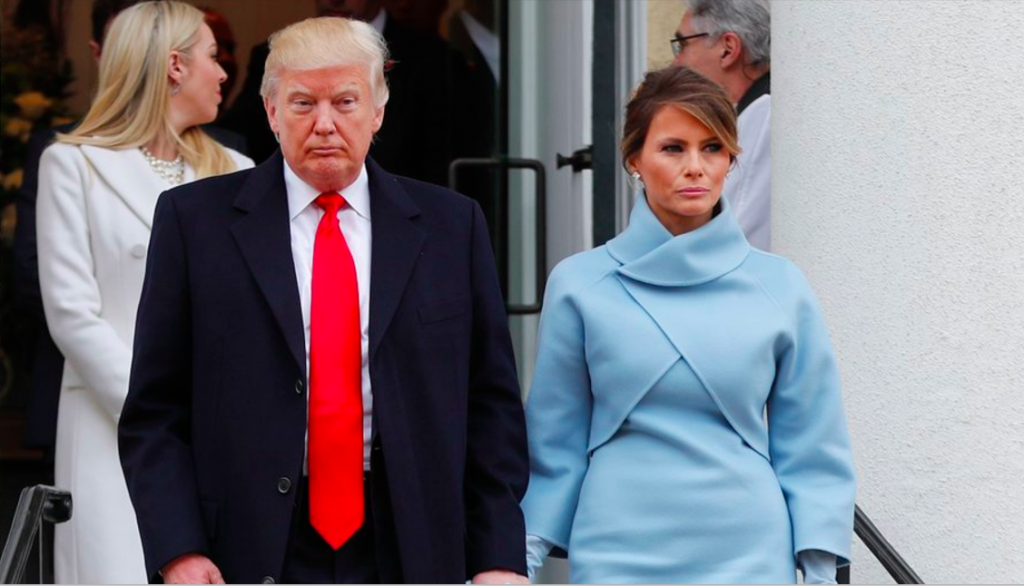 Photo of Melania Trump with Donald Trump at the inauguration