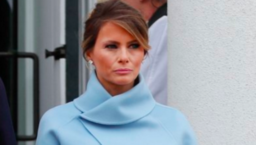 Photo of Melania Trump at the inauguration