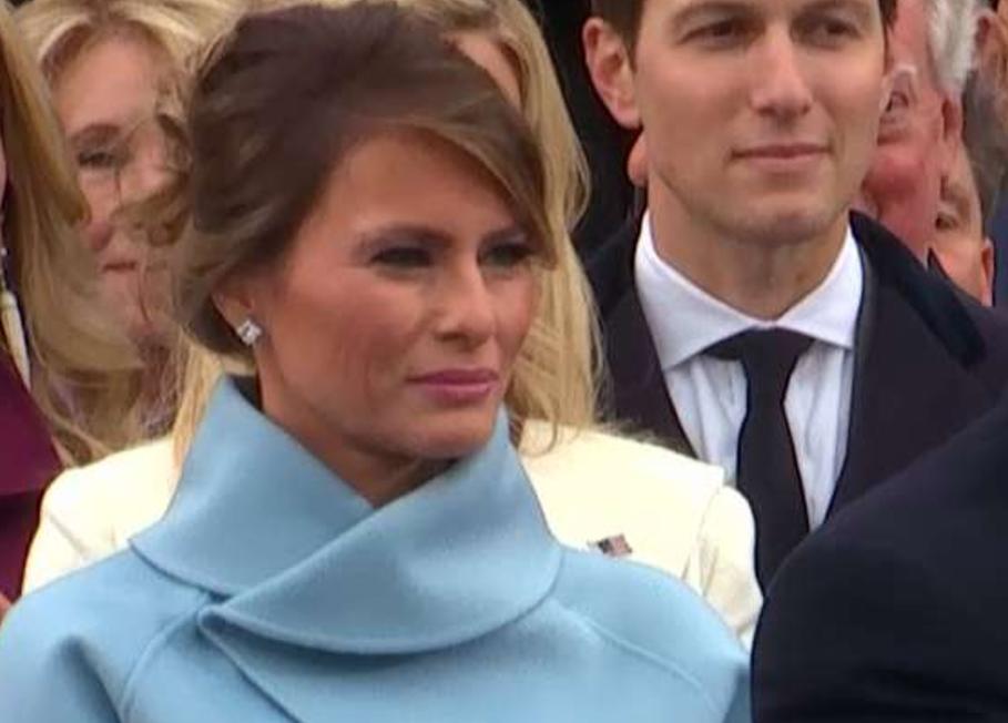 Photo of Melania Trump and Jared Kushner at the inauguration