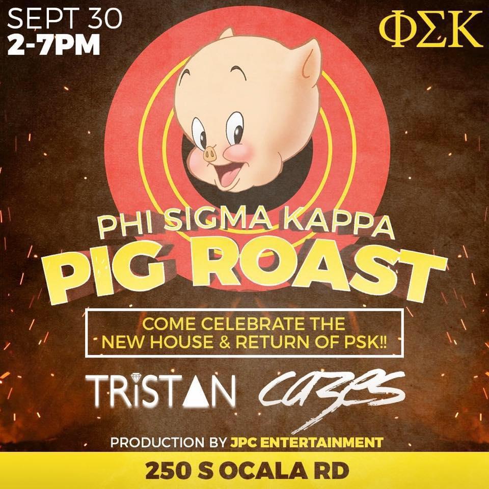 Phi Sigma Kappa's pig roast promotion