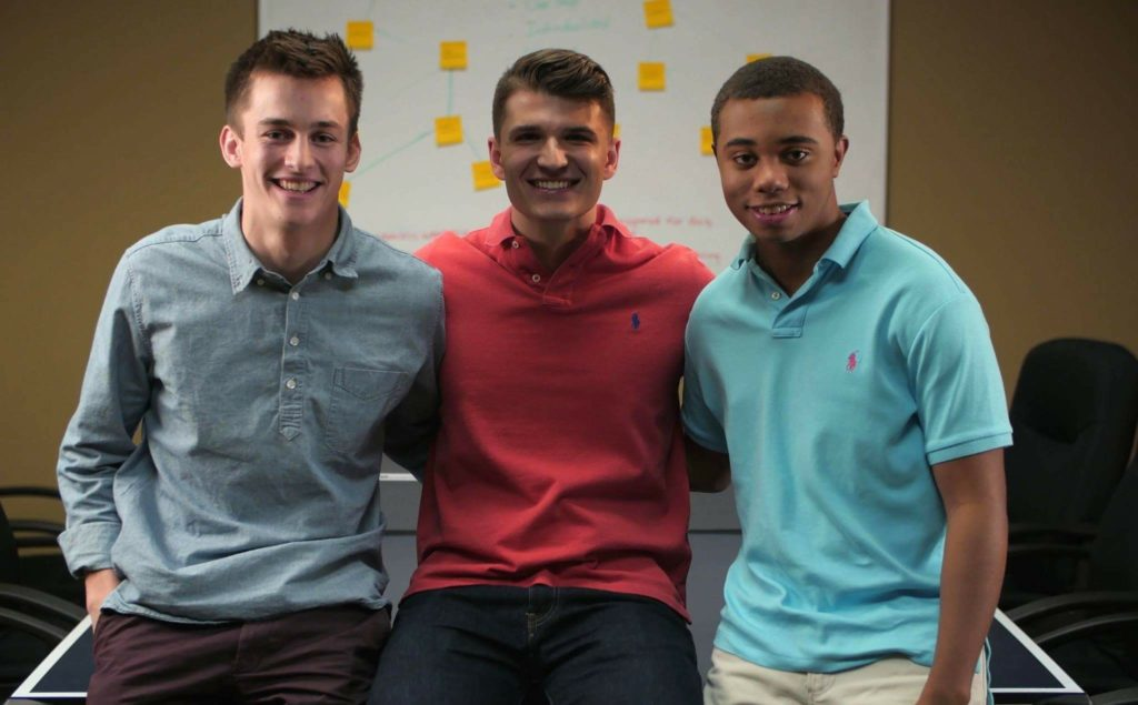 Lingohop founders Tsavo Knott, Michael Ashley, and D.J. Hammett
