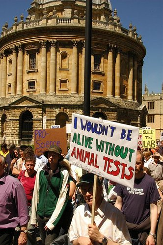 A pro animal testing demo in 2006