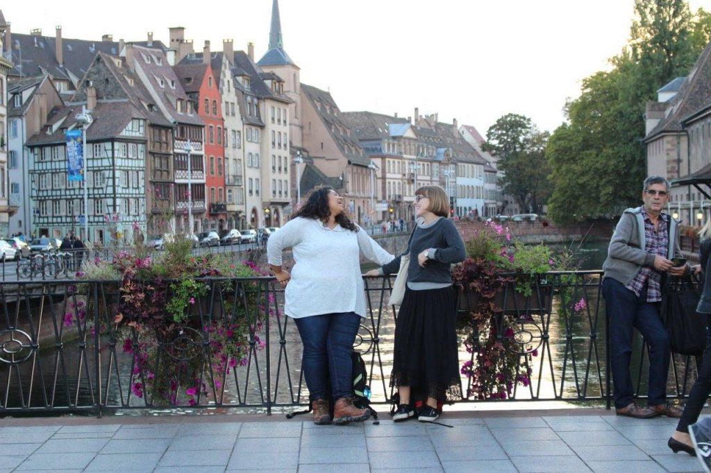 Yerika and a friend in Freiburg, Germany