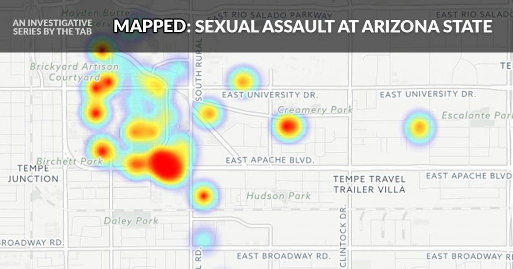 arizona state sexual assault map
