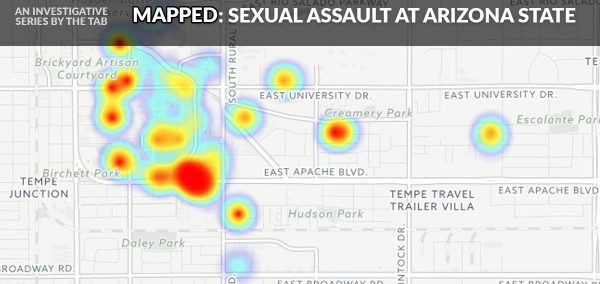 Map Of Arizona State University.Two Dorms Account For A Quarter Of All Reports Of Sexual Assault At