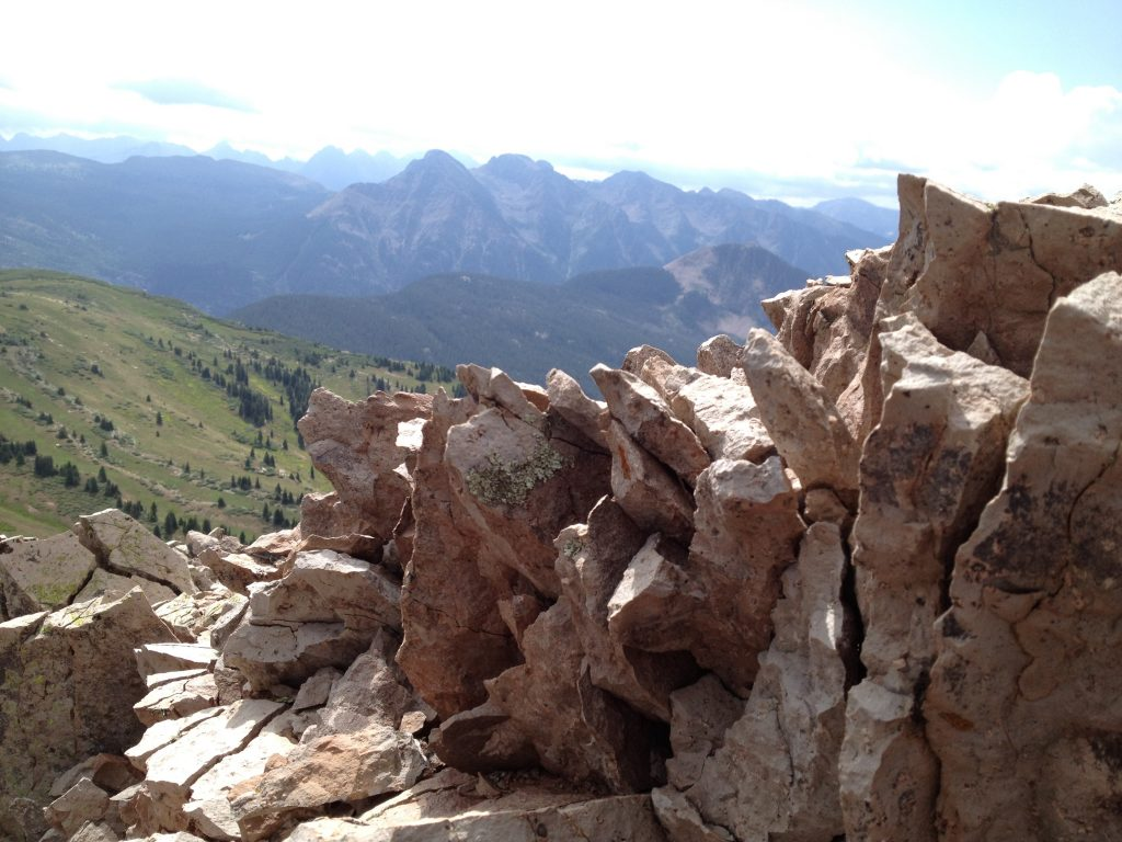Tricky Trek down from near the top of Engineer Mountain. July 2012.