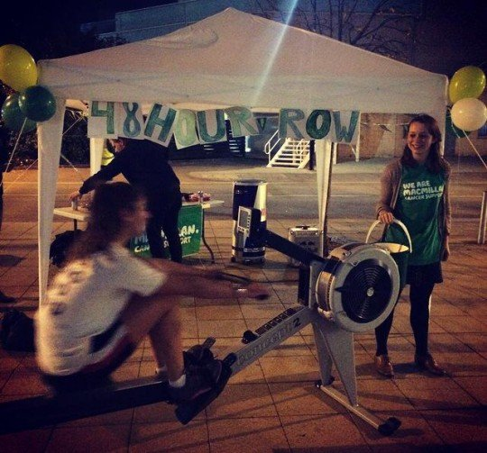 All for charity: Warwick girls embark on 48 hour rowing