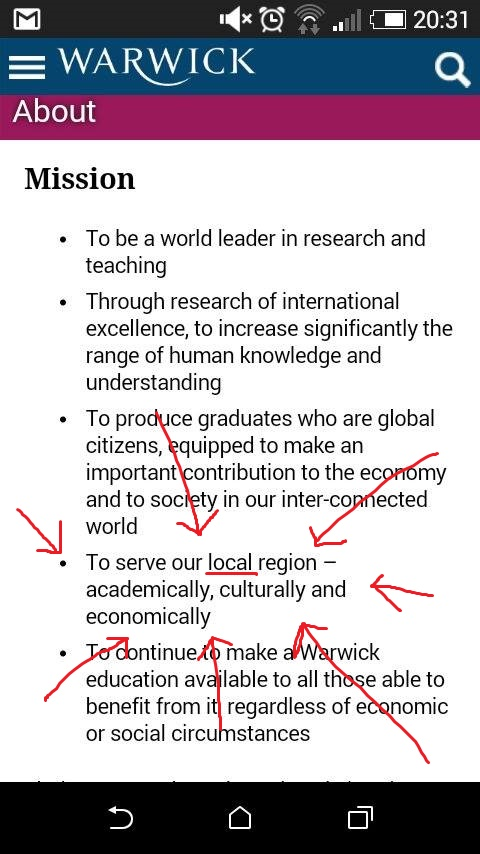 Surely Vice Chancellor, 'Geographer', Nigel Thrift can help us define local?