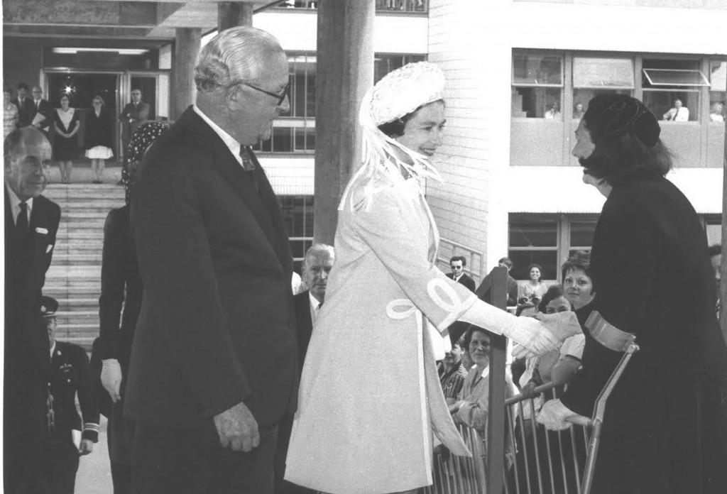 The Queen visited Warwick in 1970