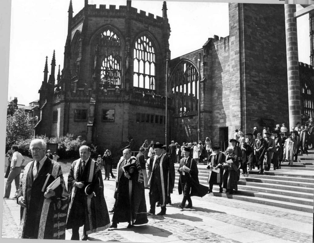 Warwick Uni procession in Coventry City Centre, 1973