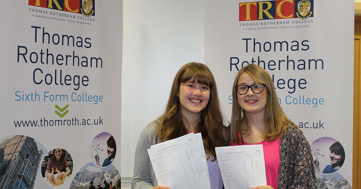 Future BNOCs: Amy (left) and Beth Kynman are both heading to Warwick this year