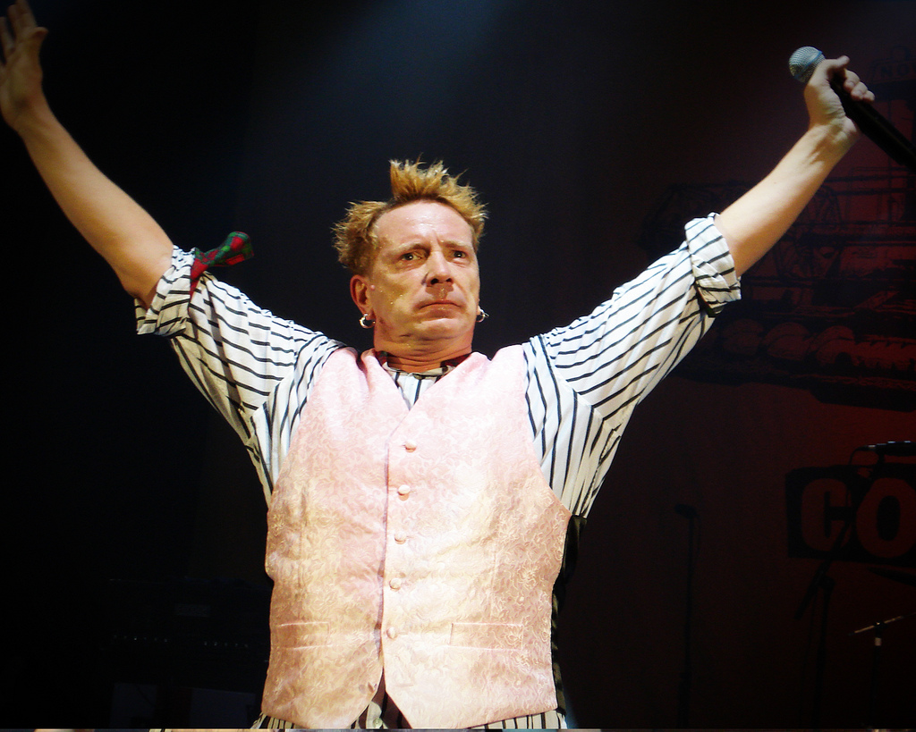 Feeling ill: The gig was cancelled as frontman John Lydon was too unwell to perform