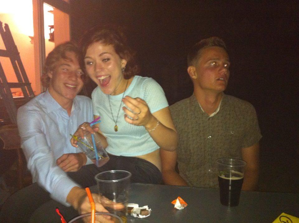 The classic Vodka-Coke drinking, inevitably not enjoying themselves.