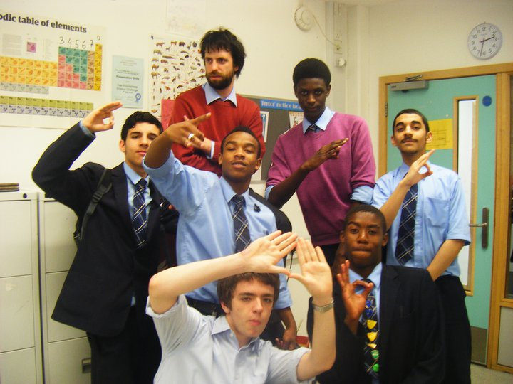 Gang signs were compulsory in some classrooms