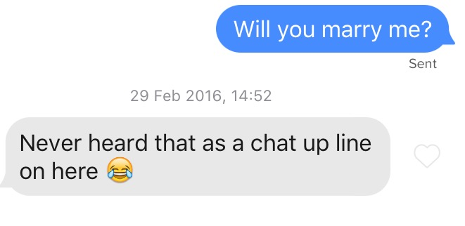 I Asked Guys On Tinder To Marry Me