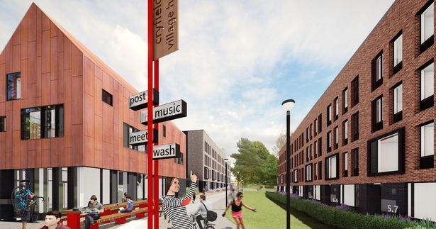 Image may contain: Urban, Neighborhood, Building