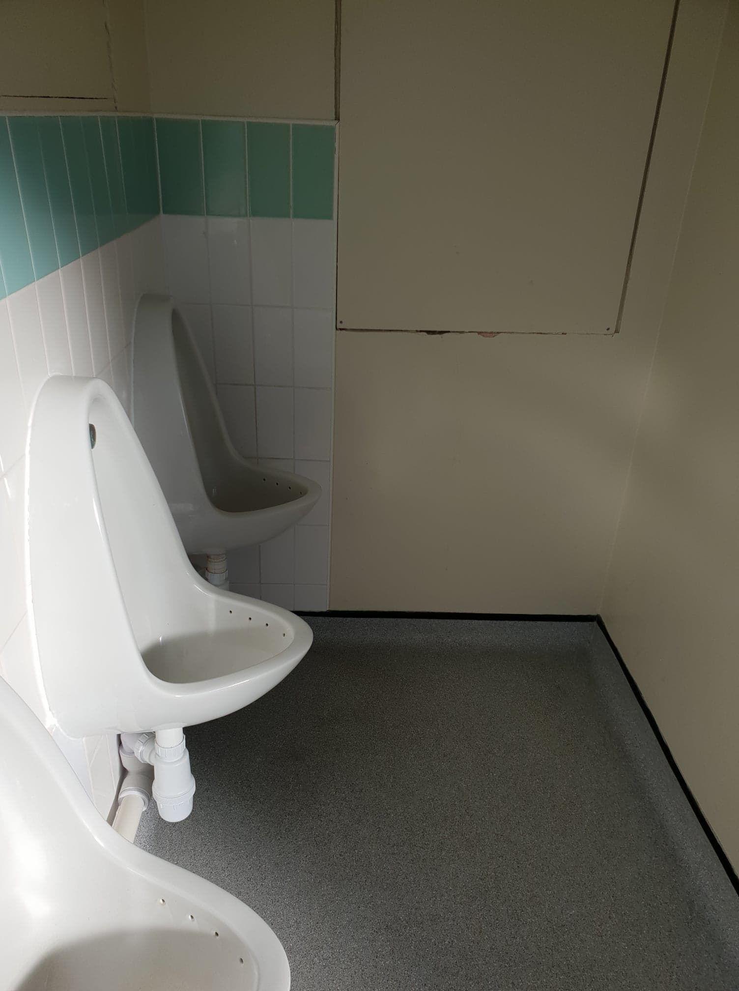Image may contain: Interior Design, Chair, Furniture, Toilet, Bathroom, Flooring, Floor, Room, Indoors