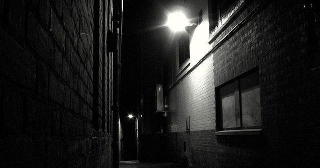 Image may contain: Neighborhood, Brick, Alleyway, Alley, Building, City, Town, Street, Urban, Road