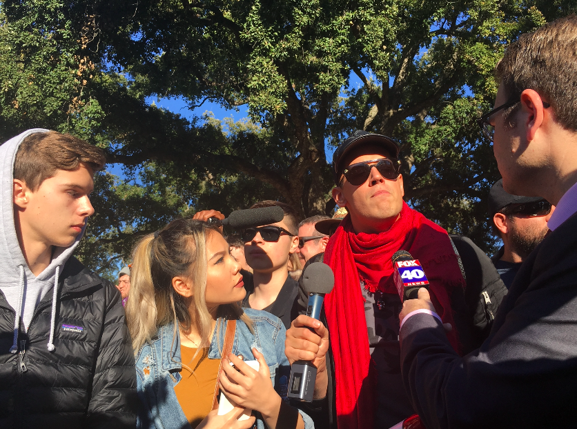 Milo Yiannopoulos speaks to Fox at UC Davis