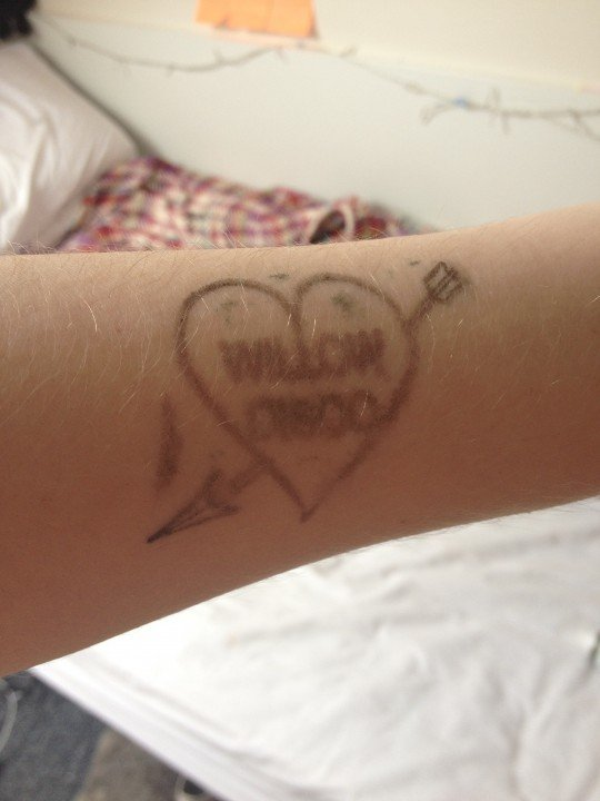 The stamp that never washes off...