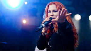 Katy B tearing the Ron Cooke Hub a new one at last year's event
