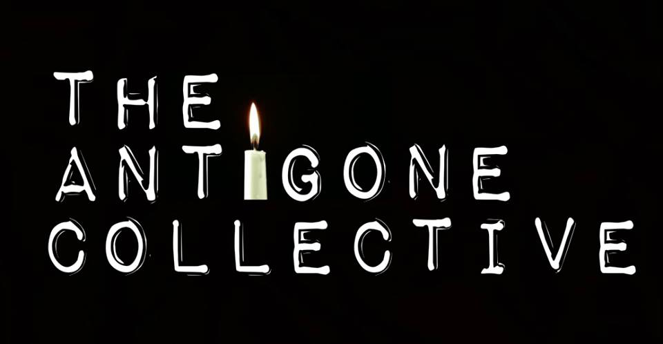 Logo of The Antigone Collective, a student theatre company of human rights