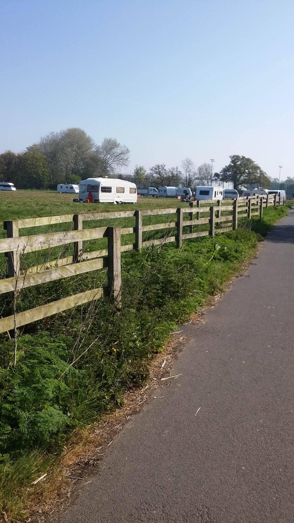 The caravans arrived at the end of April